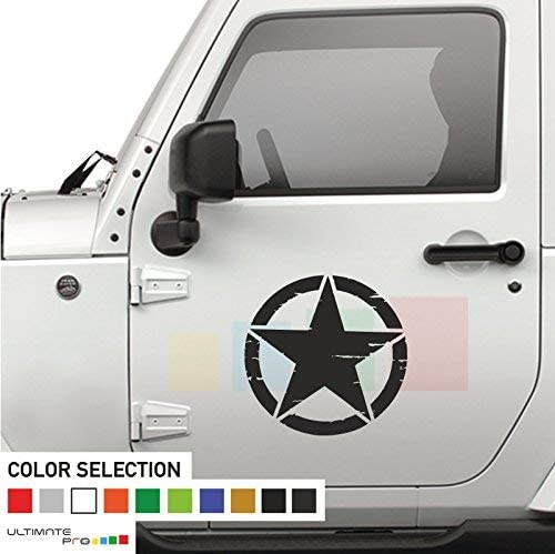 2x Stars Decal sticker Compatible with Jeep Wrangler RUBICON Jk No:13