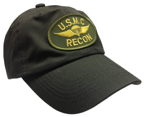 Recon Marine - USMC Marine Recon Hat OD Cotton Ball Cap