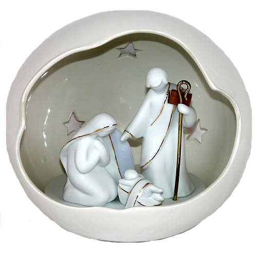 Appletree Design Holy Family Nativity Lighted Globe, 7-1/4-Inch Tall, Includes Light Bulb and Cord