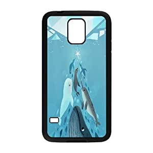 Dolphins Art Hard Snap Cell Phone Case Cover for Samsung Galaxy Case S5 HSL385506