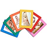 12-pack Magnetic Picture Frames for Refrigerator 2.5x3.5'' Wallet size colorful photo note schedule holder By Lubber