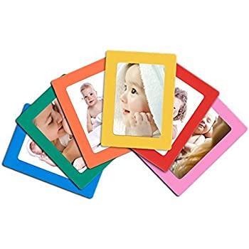 Amazon.com - 12-pack Magnetic Picture Frames for Refrigerator 2.5x3 ...