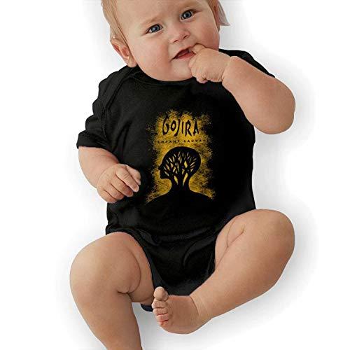 Tiwywln Gojira L'enfant Sauvage Baby Cute Soft Crawling Suit Black