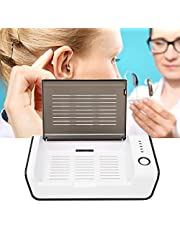 Hearing Aid Drying Box,Hearing Aid Hard Case Portable USB Hearing Amplifier Dehumidifier Drying Case with UV Light for Hearing Aids
