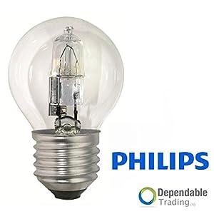 3 x 42w = 60w ES (E27) HALOGEN energiesparende Golfball- Glühbirne klar...