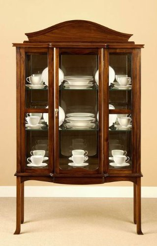 Amazon.com: Queen Anne Curio Cabinet: Kitchen & Dining