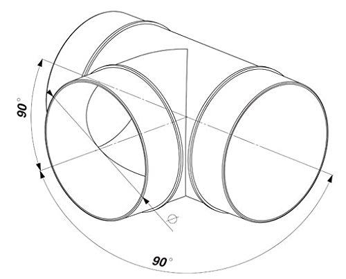 Conector en T ventilaci/ón Tubo ABS Tubo Redondo De Di/ámetro 100/Canalizado Awenta para tubo de 100/mm PVC