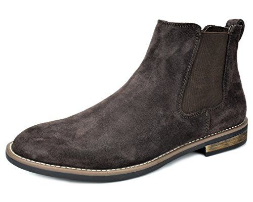 Bruno Marc Men's Urban-06 Dark Brown Suede Leather Chukka Ankle Boots - 9 M US
