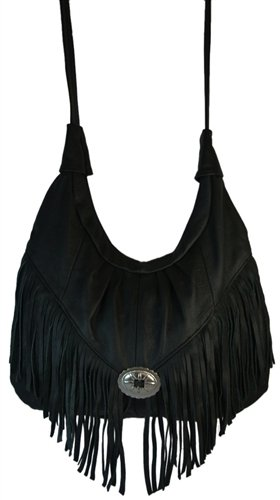 Fringed Bag Black - 2