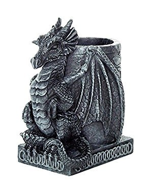 PTC 4.5 Inch Medieval Dragon Statue Figurine Desk Top Utility Holder