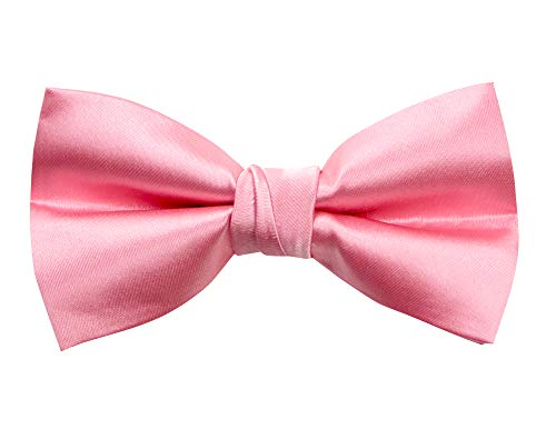 Spring Notion Men's Solid Color Satin Microfiber Bow Tie Dustry Rose