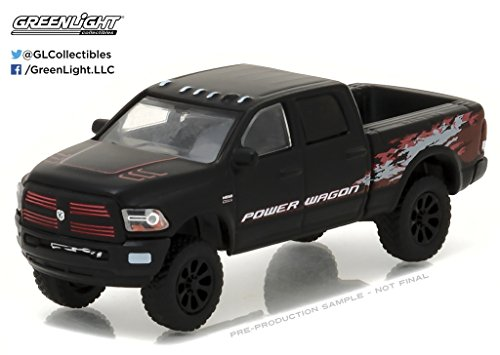 2016 Dodge Ram 2500 Power Wagon Pickup Truck Matt Black Hobby Exclusive 1/64 by Greenlight 29901