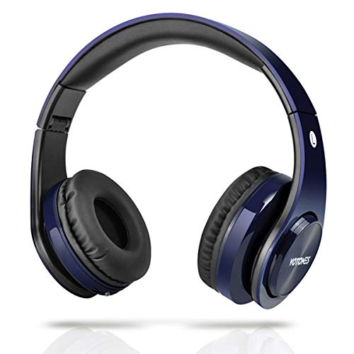 Wireless Bluetooth Headphones for Kids,VOTONES Custom Edition Bluetooth Over Ear Earphone for Children,85dB Limited Volume with Handsfree Call,Compatible for Smart Phone,Tablet PC(Blue)