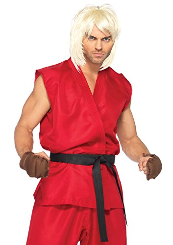 Leg Avenue Costumes 4Pc.Ken Includes Shirt Pants Belt and Hand Pads, Red, Medium/Large - Video Game Costumes Halloween