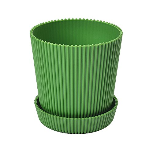 5.3 Inch Round Flower Plant Pots Planter Flower Plant Container with Saucer Pallet,Green,400 Counts by Zhanwang