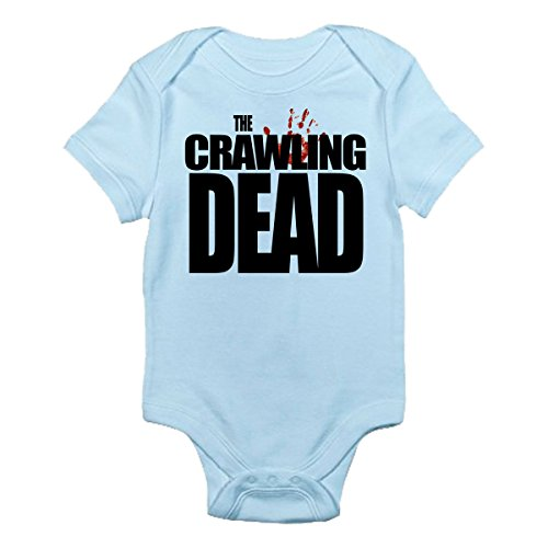 The Crawling Dead Baby Bodysuit Cute Baby Clothes (3-6 Months, Light Blue) (Baby Zombie Clothes)
