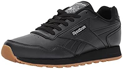 Reebok Classic Harman Run Sneaker, Black/Gum, 3.5 M US