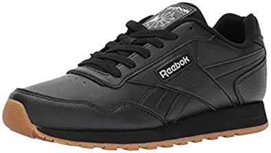 Reebok Classic Harman Run Sneaker, Black/Gum, 4 M US