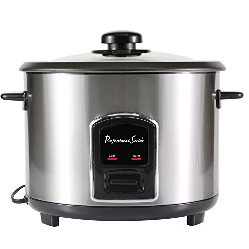 Continental Electric PS75088 Rice Cooker, 10-cup, Silver ()