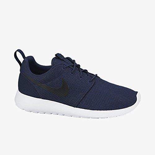 (Nike Mens Rosherun Midnight Navy/Black/White Running Shoe 9.5)