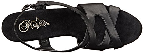 Pleaser - Zuecos para mujer 44 Blk Faux Leather/Blk Matte