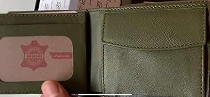 CARTERA HORIZONTAL SERRAJE VERDE de Ubrique Billetera Tarjetero Monedero Hombre Piel Cuero CON PULSERA BANDERA ESPAÑA DE REGALO
