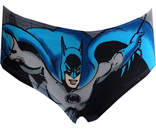 (Briefly Stated Women's DC Comics Batman is Here Panty (Small) Black )