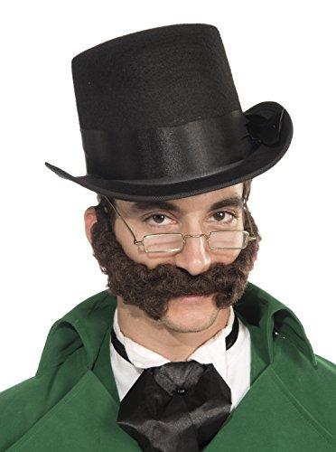 [Forum Novelties Men's Curly Burly Novelty Beard, Brown, One Size] (Brown Mustache And Beard Costume)