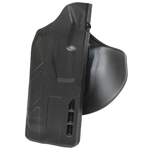 Safariland 7378 7TS ALS Concealment Flex-Paddle & Belt Slide Holster, Sig Sauer P320 Compact .45 ACP with M3, Tlr1, Sf X200, X300, X300U, Safariseven Plain Right Hand, Black