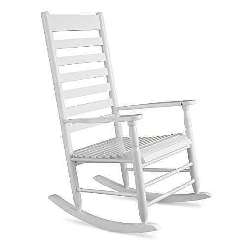 White Traditional Classic Porch Rocker Rocking Chair Outdoor Patio Garden Furniture