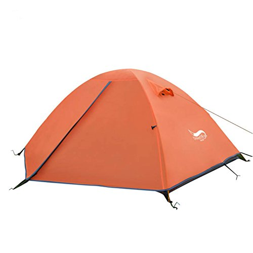 Outdoor Professional Level Anti - Rain Camping 2 People 2 - Layer Aluminum Pole Tent (Orange)