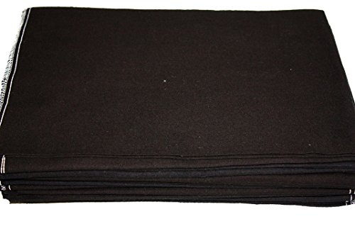 Auto Fender Cover and Seat Protector, Black 6-Pieces, Eco-friendly 100% Soft Natural Cotton, protects auto surfaces, car interiors, seats, ideal for mechanic shop, garages, body shops, DIY projects