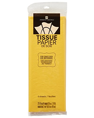 American Greetings Tissue Paper 20 in. x 26 in. 6 Sheets - Yellow