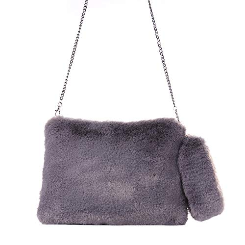 Bag Handbag Smal Tote Women Gray JERFER Bag Winter Warm Soft nq4784xPEZ