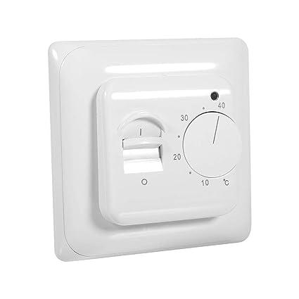 Garosa Piso Mecánico Calefacción Manual Termostato Aire Acondicionado Ahorro de energía Control de Temperatura Pared Zócalo