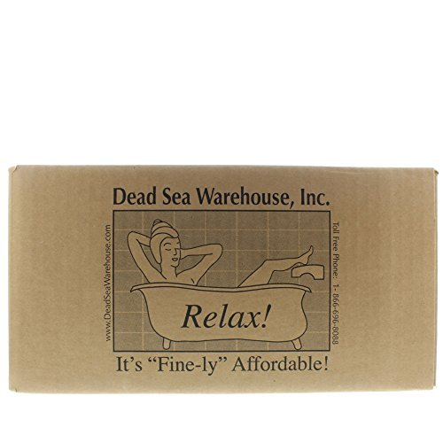 Dead Sea Warehouse - Amazing Minerals Dead Sea Bath Salts, Temporary Relief From Dry Itchy Skin, Aches & Pains, Exfoliates & Moisturizes, 100% Full Mineral (25 Pounds) by Dead Sea Warehouse