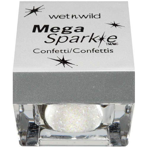 Wet n Wild (1) Pot Mega Sparkle Confetti Glitter for Face, Body & Hair - White Icing #C775A