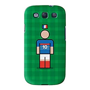 France 10z Full Wrap High Quality 3D Printed Case for Samsung? Galaxy S3 by Blunt Football International + FREE Crystal Clear Screen Protector