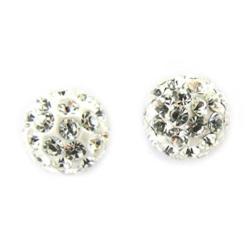 Les Trésors De Lily [M0930] - Boucles Argent 'Sissi' blanc (cristal)