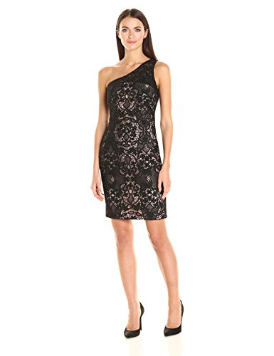 Calvin Klein Women's One Shoulder Lace Dress