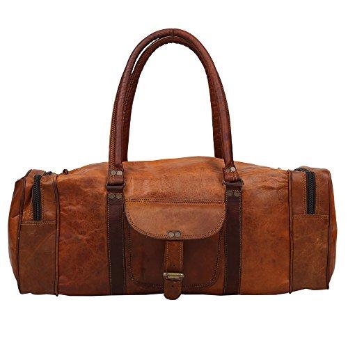 50,8cm Zoll hoch rustikal Collection handgearbeitet 100% echtem biologischem geheilt Leder Cargo Duffle Tasche für Reisen oder Fitnessstudio Collection von indicraft INC