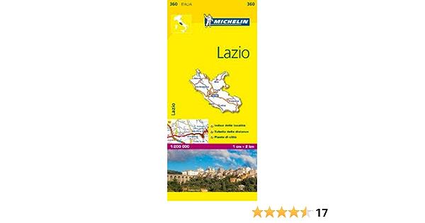 Cartina Michelin Italia.Michelin Map Lazio 360 Italy Maps Local Michelin Italian Edition Michelin 9782067126695 Amazon Com Books