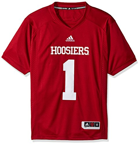 adidas NCAA Indiana Hoosiers Adult Men Premier Football Jersey, X-Large, Victory (Twill Football Jersey)