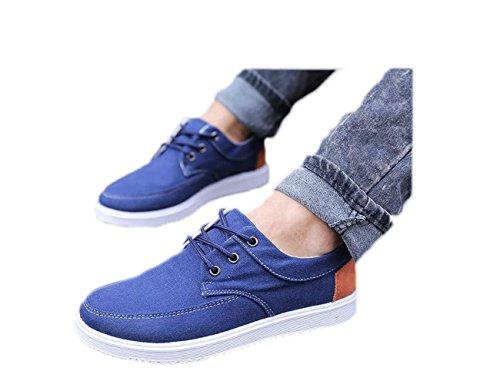 Ein bißchen Herren mode Fashion Herbst Früling Low-top Denim casual Atmungsaktive Segeltuch Sneaker Dunkelblau