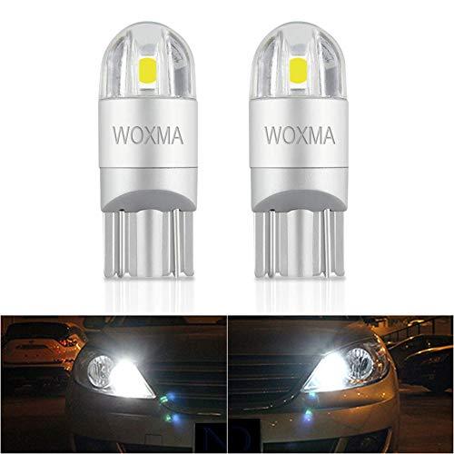 (2pcs White Extremely Bright T10 LED Bulb 194 168 3030 Chipset SMD W5W LED Wedge Light 1.5W 12V License Plate Light Turn Light Signal Light Trunk Lamp Clearance Lights Reading lamp)