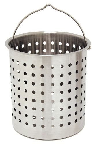 Bayou Classic B160, 62-Qt. Stainless Perforated Basket