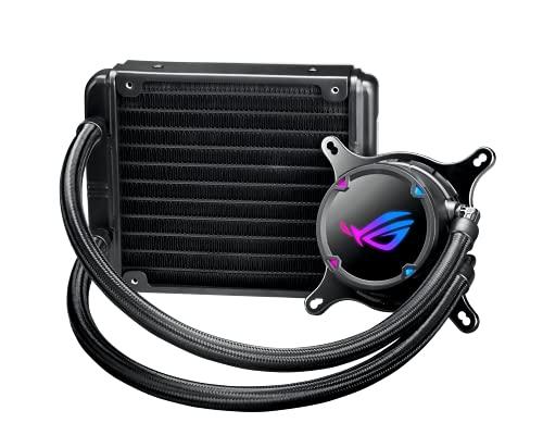 ROG STRIX LC 120 - Sistema de refrigeración líquida de CPU, AURA Sync RGB, tubo de goma reforzado de 38 cm, ventilador ROG RGB optimizado