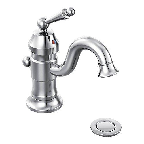 Moen S411 Waterhill One-Handle High Arc Bathroom Faucet, Chrome