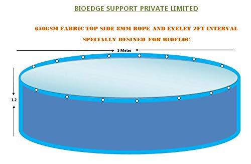 BioEdge Support 650 GSM PVC Round Shape Tarpaulin Fish Pond