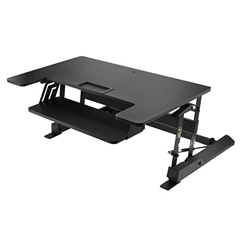 Mophorn Height Adjustable Standing Desk 2 Dual Monitors 31 Inch